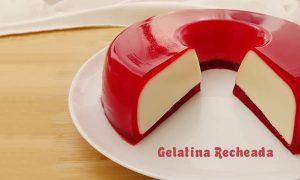 Receita de gelatina recheada